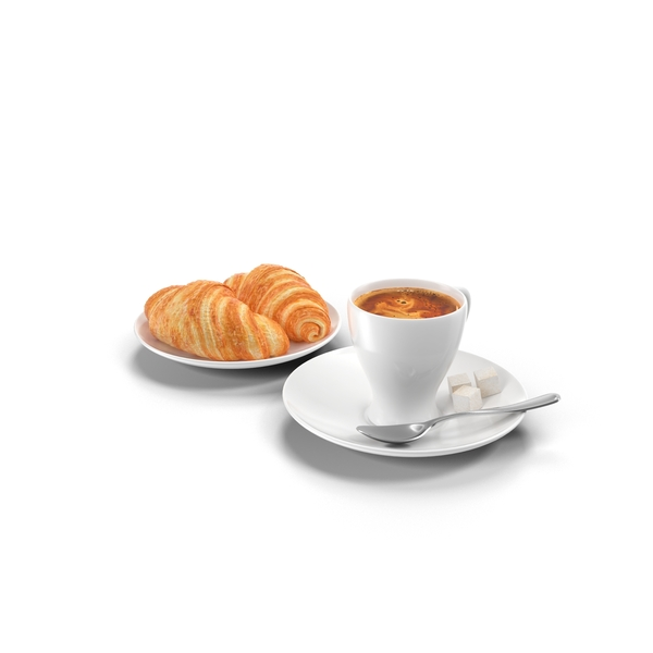 Coffee and Croissants Object