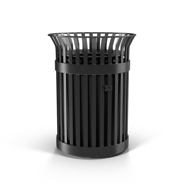 Metal Trash Can Object