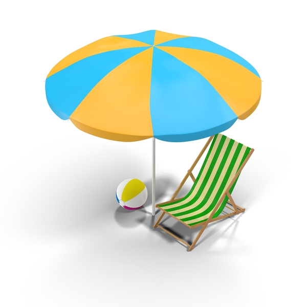 Beach Chair and Umbrella Object