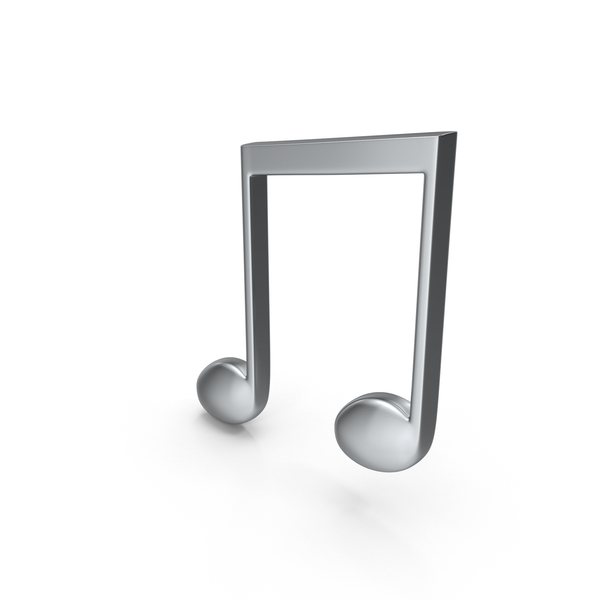 Beamed Music Note Silver Object