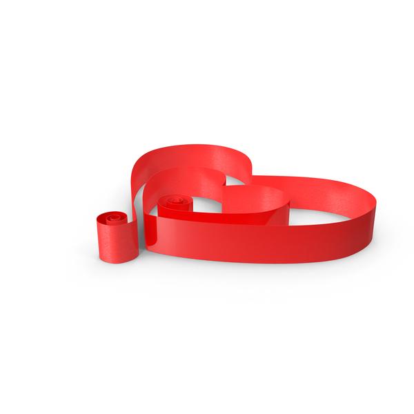 Ribbon Hearts Curly Object