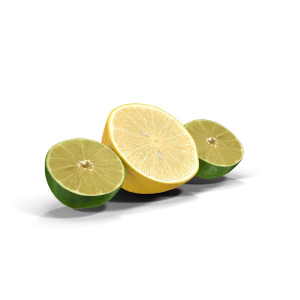 Lemon and Lime Halved Object