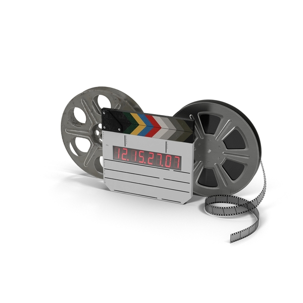 Movie Reels with Clapper Object