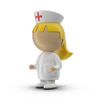 Cartoon Female Nurse  Object