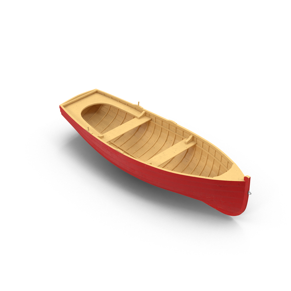Wooden Row Boat Object