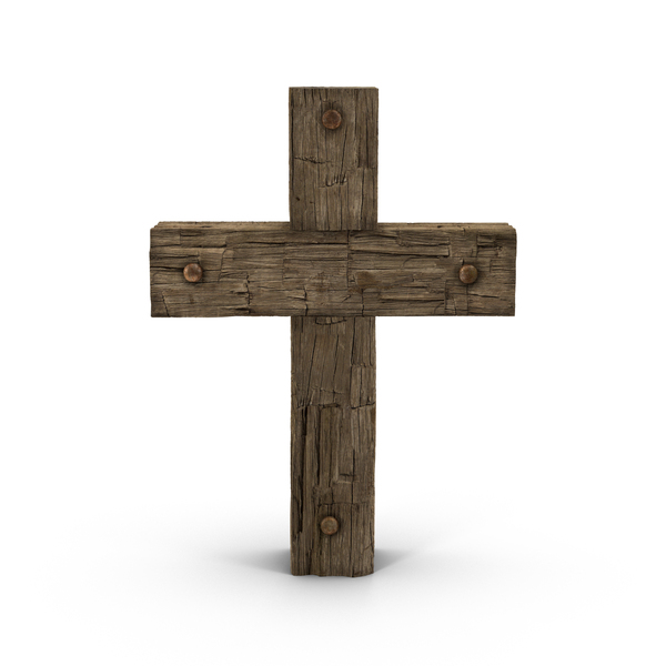 Wooden Cross Weathered Object