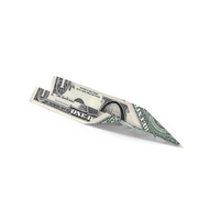 1 Dollar Bill Paper Airplane Object