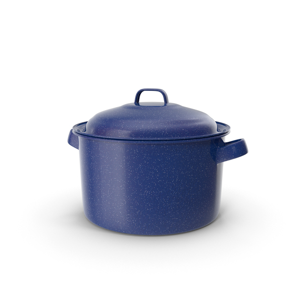 Enameled Dutch Oven with Lid Object
