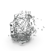 Shattered Pint Glass Object