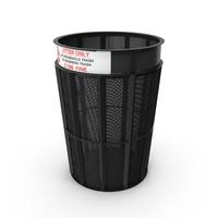 New York Garbage Bin Object