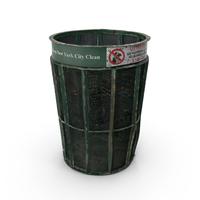 Dirty New York Garbage Bin  Object