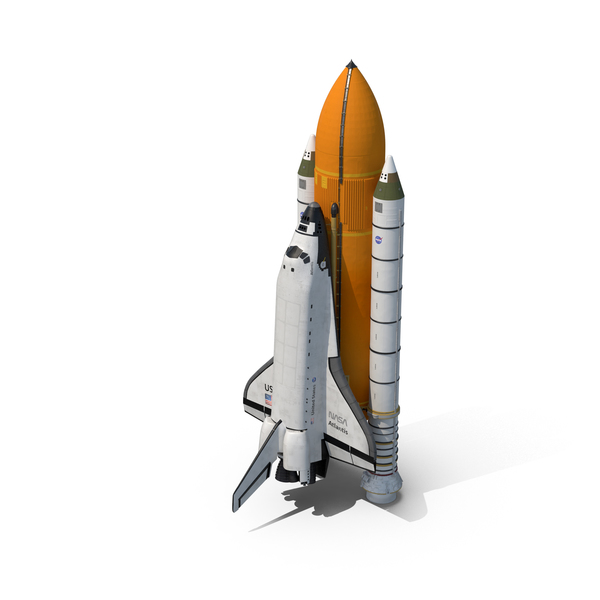 Space Shuttle With Boosters Object