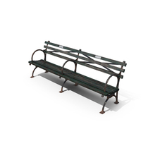 Aged Park Bench Object