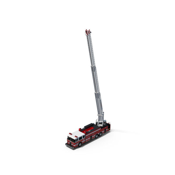 Ladder Fire Truck Rigged Object