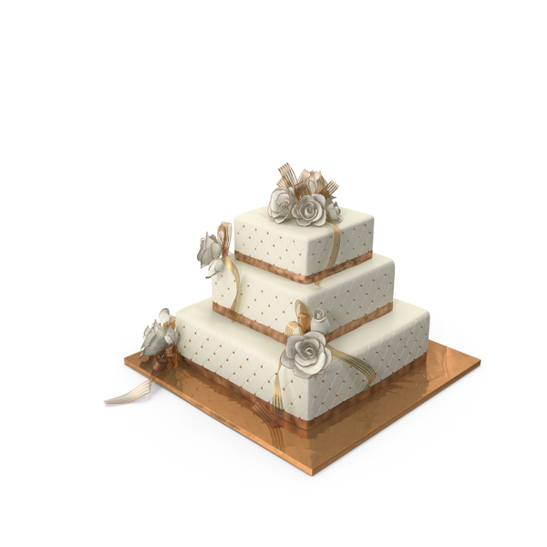 Square Wedding Cake Object