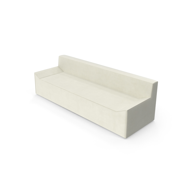 Light Fabric Angular Sofa Object
