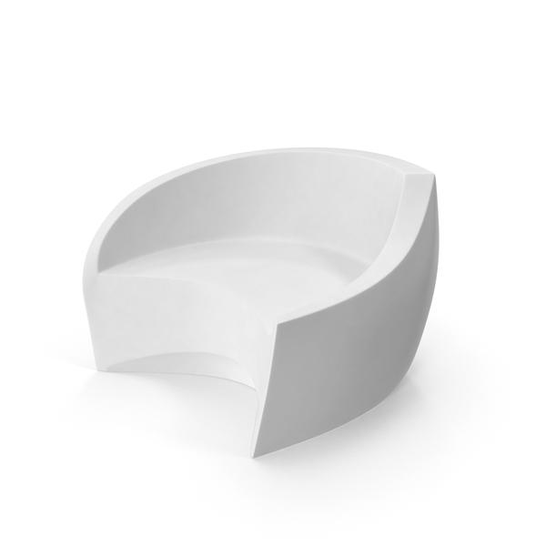 White Plastic Loveseat Object