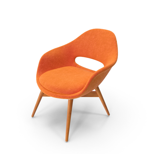 Orange Suede Chair Object