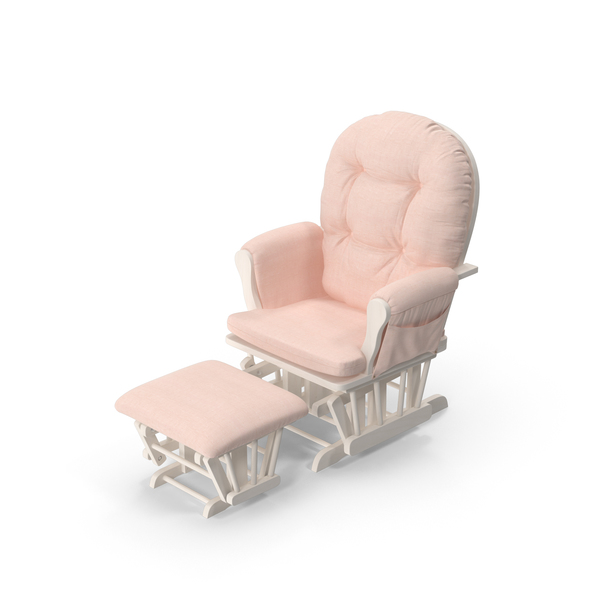Pink Padded Rocking Chair Object