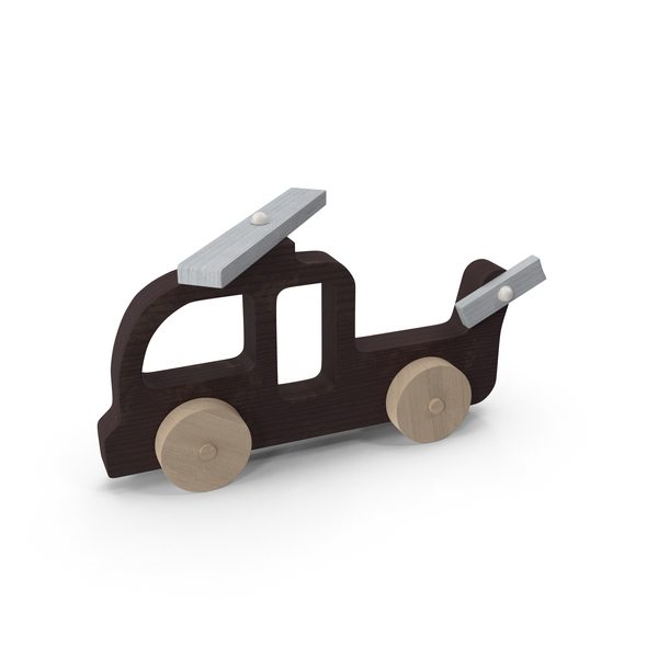 Baby Wooden Helicopter Car Object