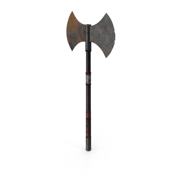 Medieval Battle Axe Object