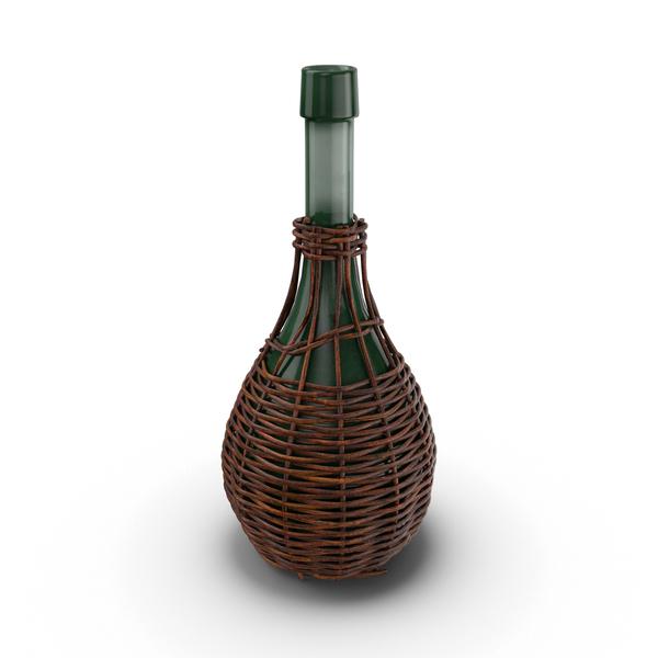 Glass Jug in Woven Basket Object