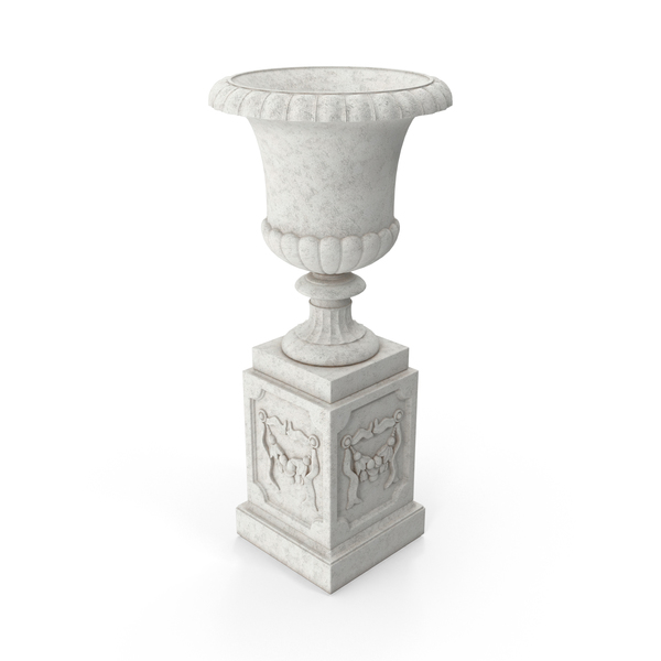Stone Pedestal Outdoor Urn Object
