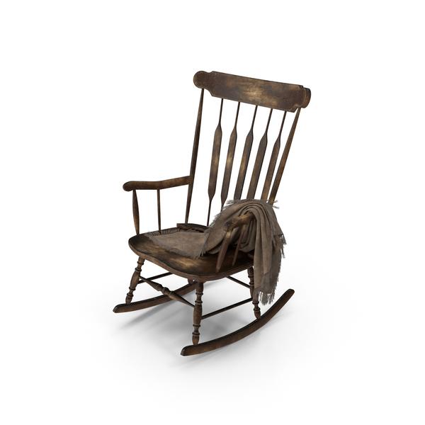 Worn Rocking Chair Object