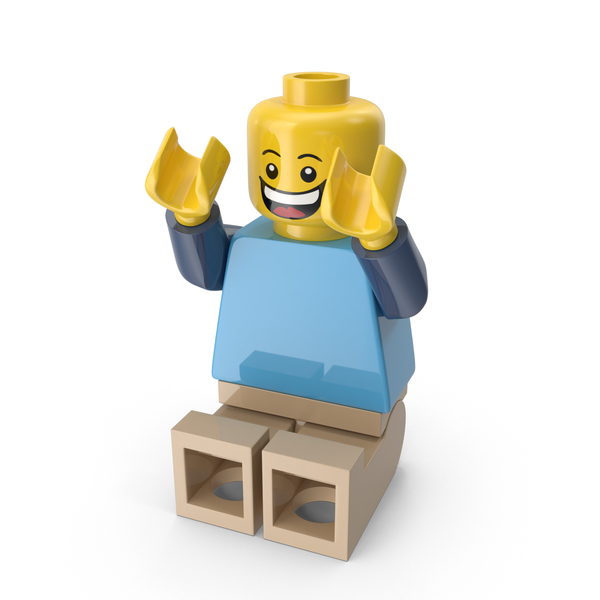 Lego Man Sitting Arms up Object