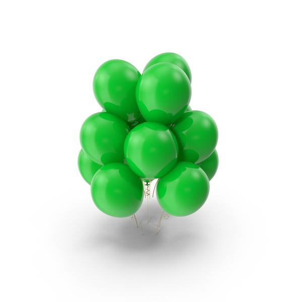 Green Balloons Object