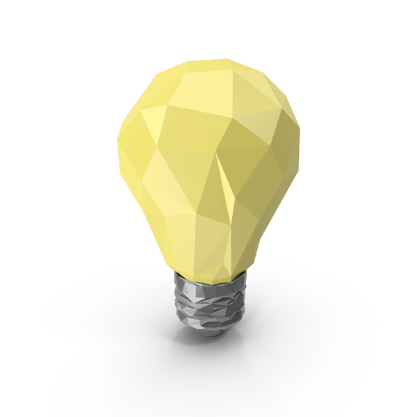 Low Poly Light Bulb Object