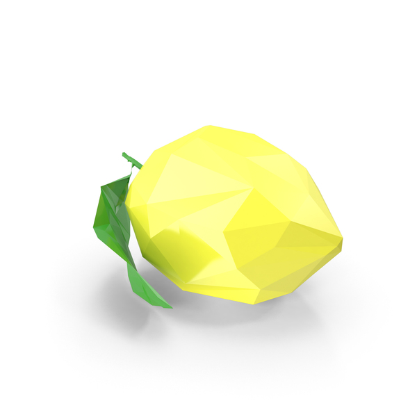 Low Poly Lemon Object