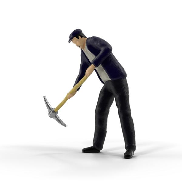 Miniature Man at Work Object