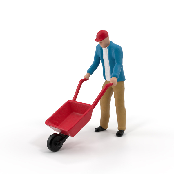 Miniature Man at Work Object