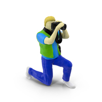 Miniature Toy Photographer Object